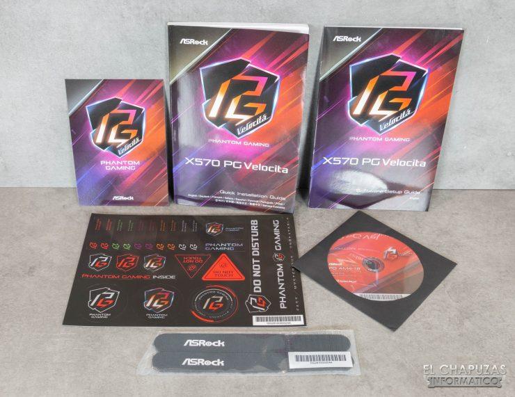 ASRock X570 PC Velocita - Accesorios 1