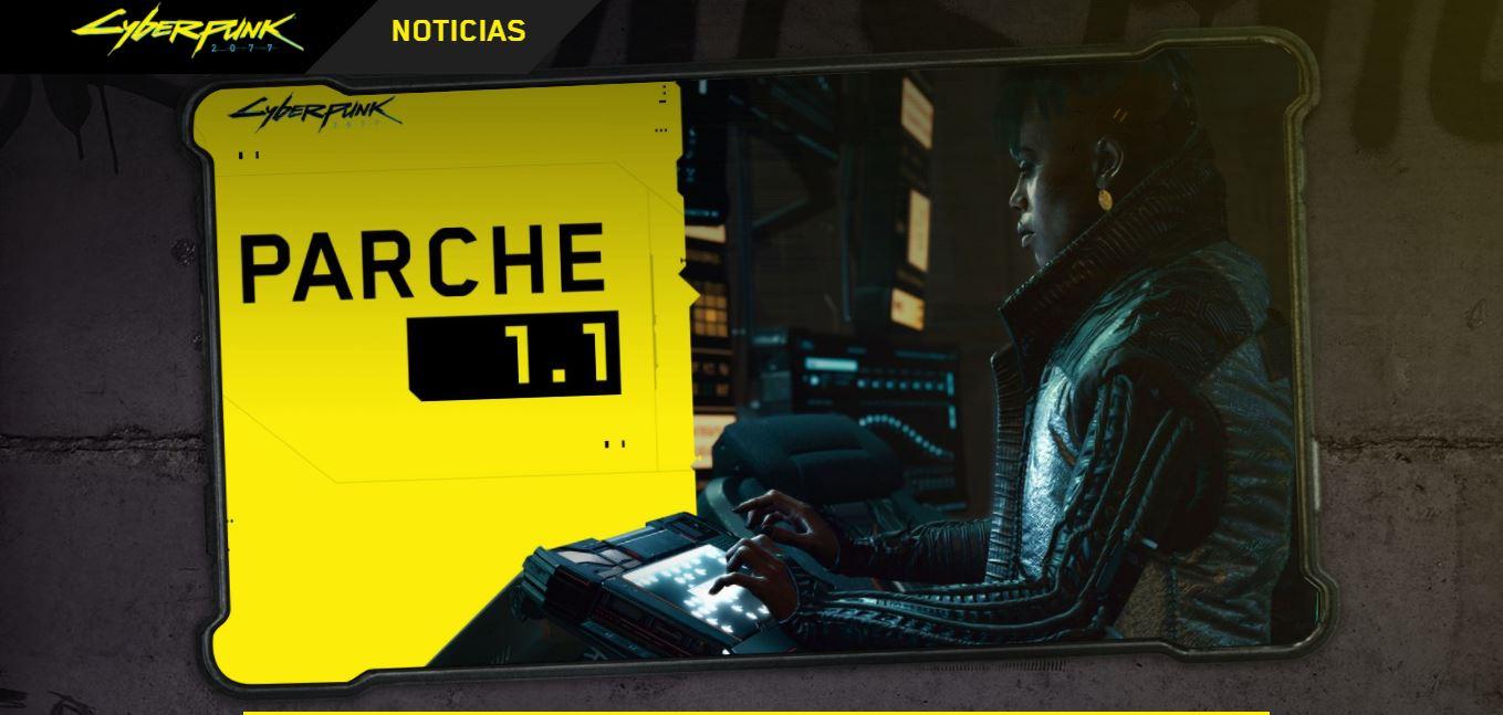 Cyberpunk 2077 parche 1.1. 0