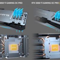 Gigabyte prepara una GeForce RTX 3060 Ti Gaming OC Pro (Rev 2.0) con un sistema de refrigeración recortado