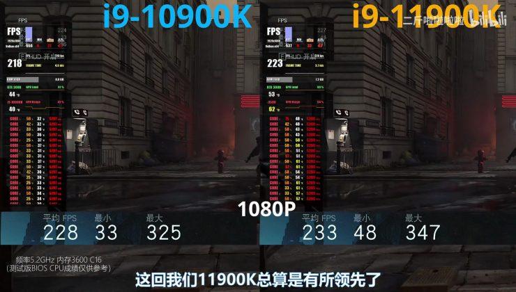 Intel Core i9-10900K vs Core i9-11900K en juegos (1)