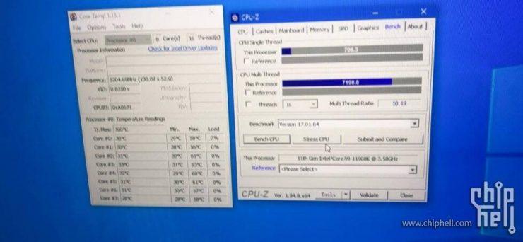 Core i9-11900K @ 5.20 GHz