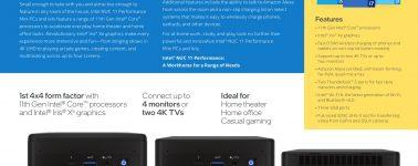 Intel anuncia sus Mini-PCs NUC 11 con procesadores Tiger Lake