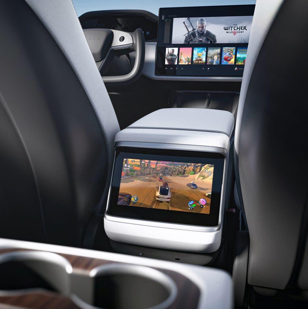 Interior del Tesla Model S 2021 2 1