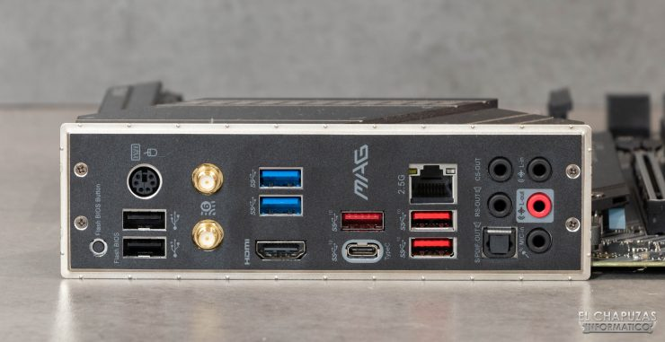 MSI MAG X570 Tomahawk WiFi - Conectores posteriores