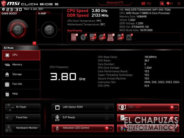 MSI MAG X570 Tomahawk WiFi BIOS 1 740x555 34