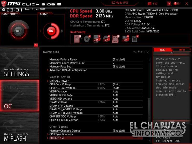 MSI MAG X570 Tomahawk WiFi BIOS 7 740x555 40
