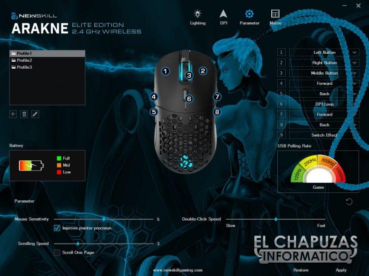 Newskill Arakne Elite - Software 3