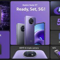 Redmi Note 9T 5G: 6.5″ FHD+, Dimensity 800U, 4GB RAM y 5000 mAh por 199 euros