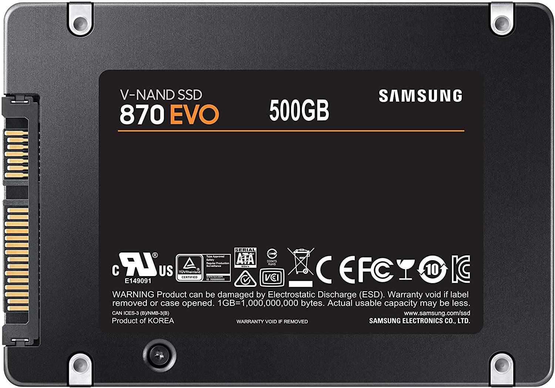 Samsung 870 EVO SSD 0