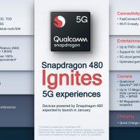 Qualcomm Snapdragon 480: SoC de gama baja a 8nm con conectividad 5G