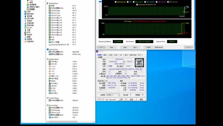 Temperatura del Intel Core i9-11900K en AIDA64