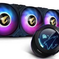 Gigabyte anuncia su líquida Aorus WaterForce X Series con una pantalla LCD en el bloque de agua