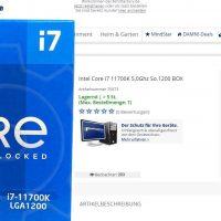 En Alemania ya se puede comprar un Intel Core i7-11700K a un precio de 469 euros