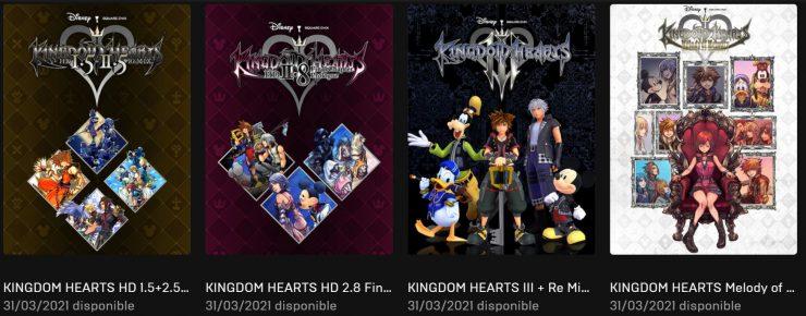 Juegos de Kingdom Hearts en la Epic Game Store 740x290 1