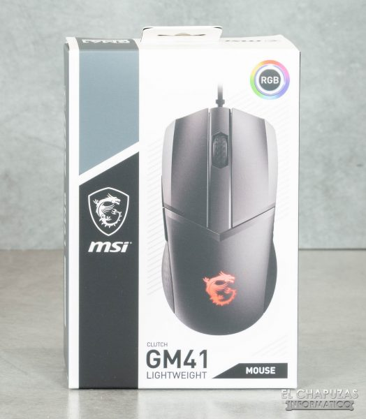 MSI Cluth GM41 - Embalaje frontal