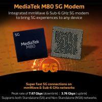 MediaTek M80: El primer módem 5G mmWave de la compañía