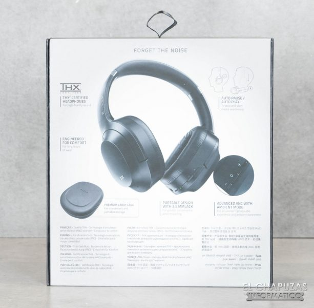 Razer Opus - Embalaje trasero
