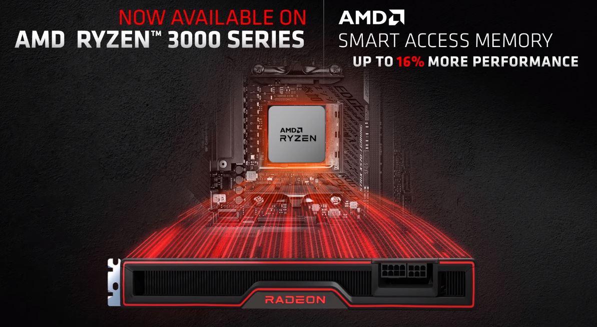 AMD lleva la tecnología Smart Access Memory (Resizable BAR) a las CPUs Ryzen 3000