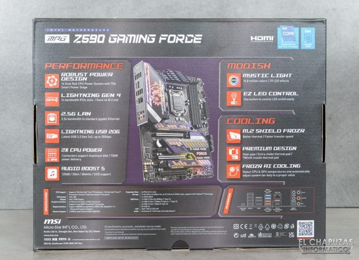 MSI MPG Z590 Gaming Force - Embalaje 2