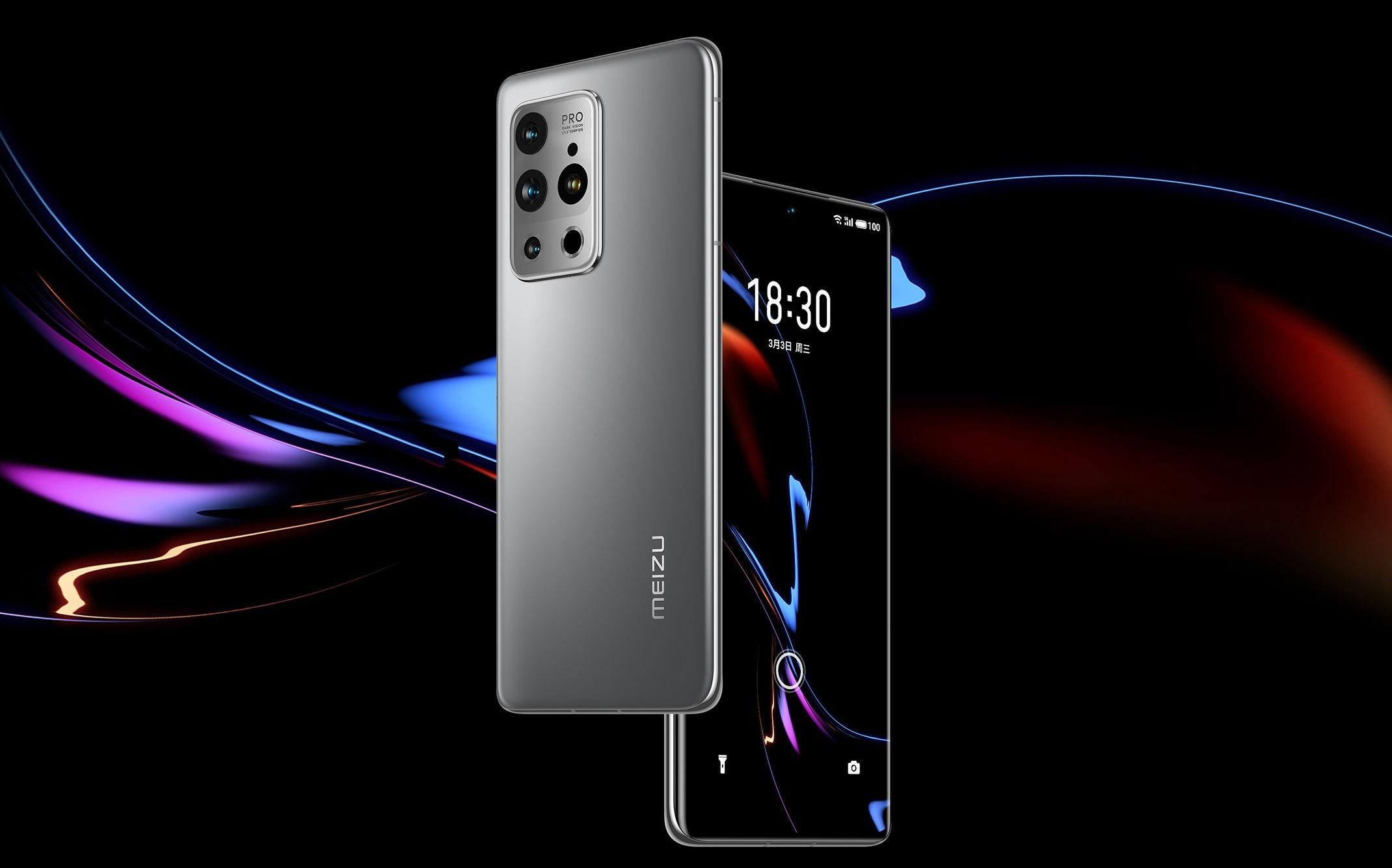 Meizu 18 Pro: 6.7″ @ 120 Hz, Snapdragon 888, 12GB RAM y cuádruple cámara trasera
