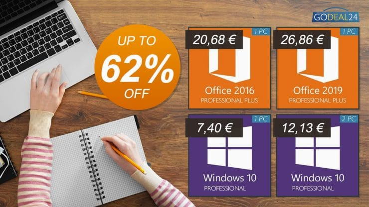 Ofertas de Windows 10 y Office