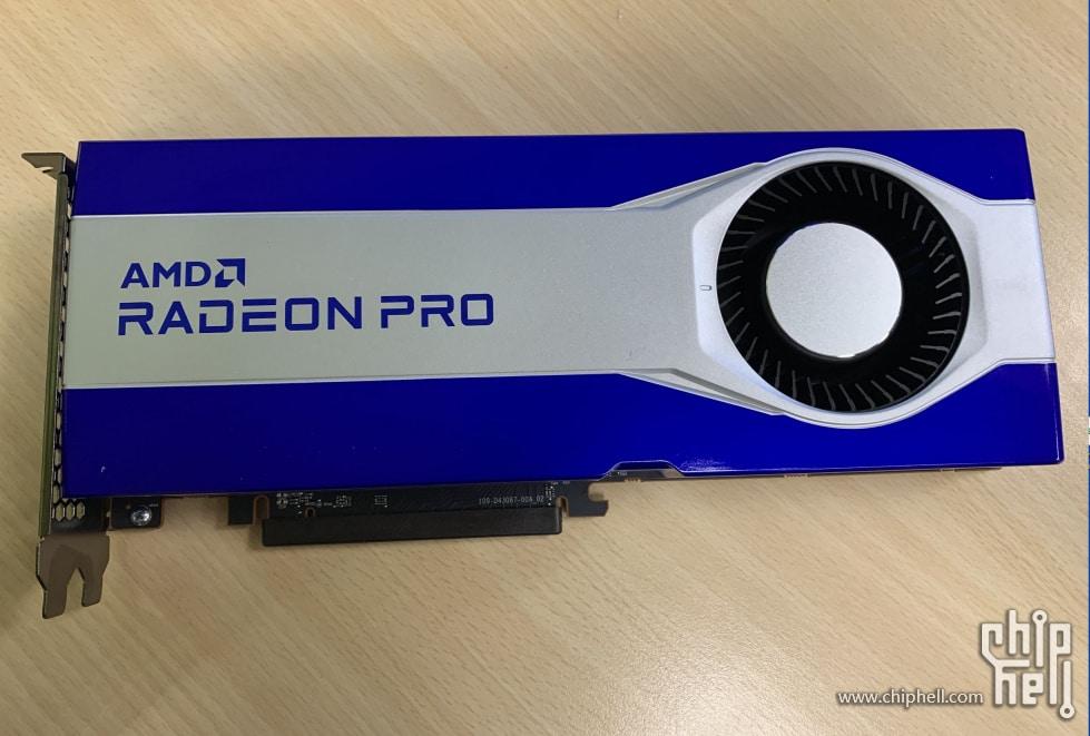 Así luce la primera AMD Radeon Pro que vemos con un silicio basado en RDNA2 (Navi 21)
