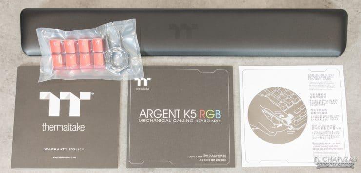 Thermaltake Argent K5 RGB - Accesorios
