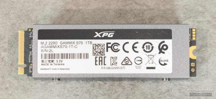 XPG Gammix S70 - Vista trasera
