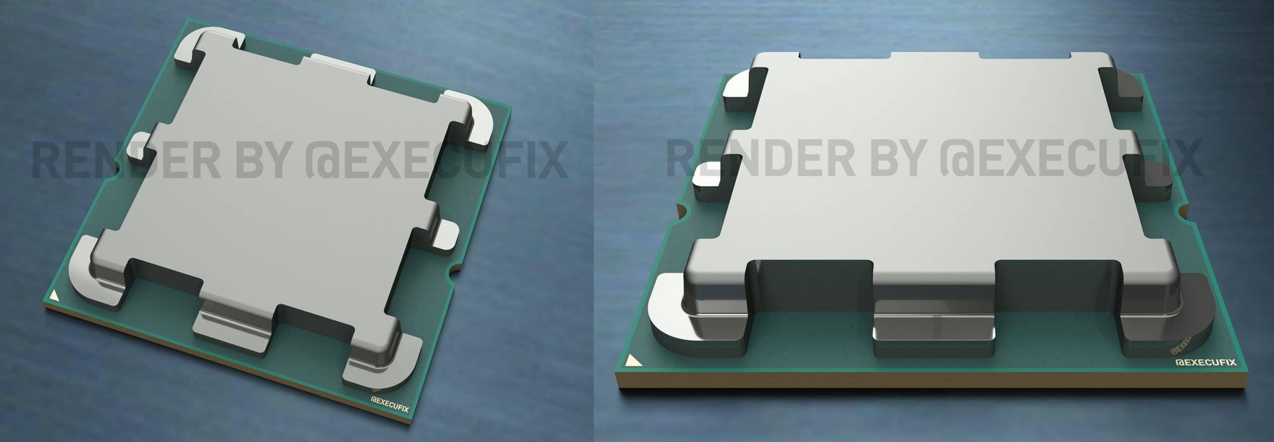 Así luce el encapsulado (IHS) de los AMD Ryzen 7000 (AM5 con Zen4)