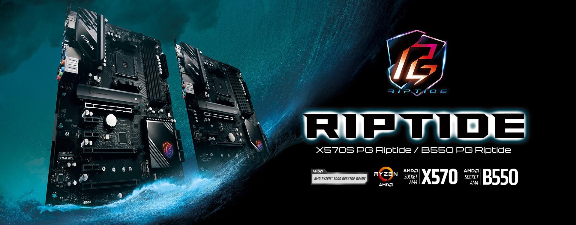 ASRock lanza sus placas base X570S PG Riptide y B550 PG Riptide