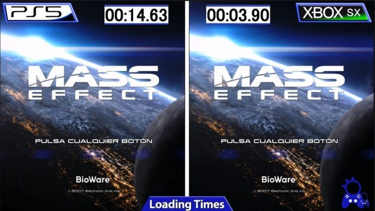 Load time in Mass Effect Legacy PlayStation 5 vs Xbox Series XS 740x416 0