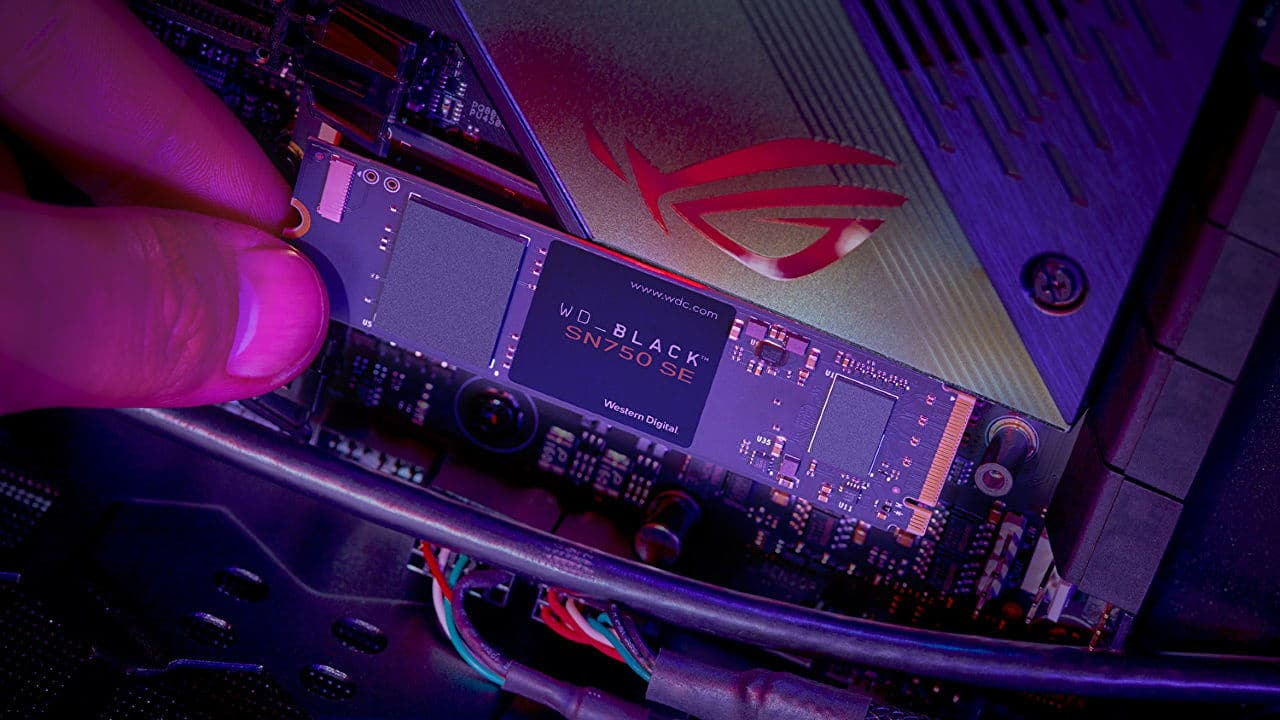 Western Digital WD Black SN750 SE: SSD PCI-Express 4.0 para la gama de entrada