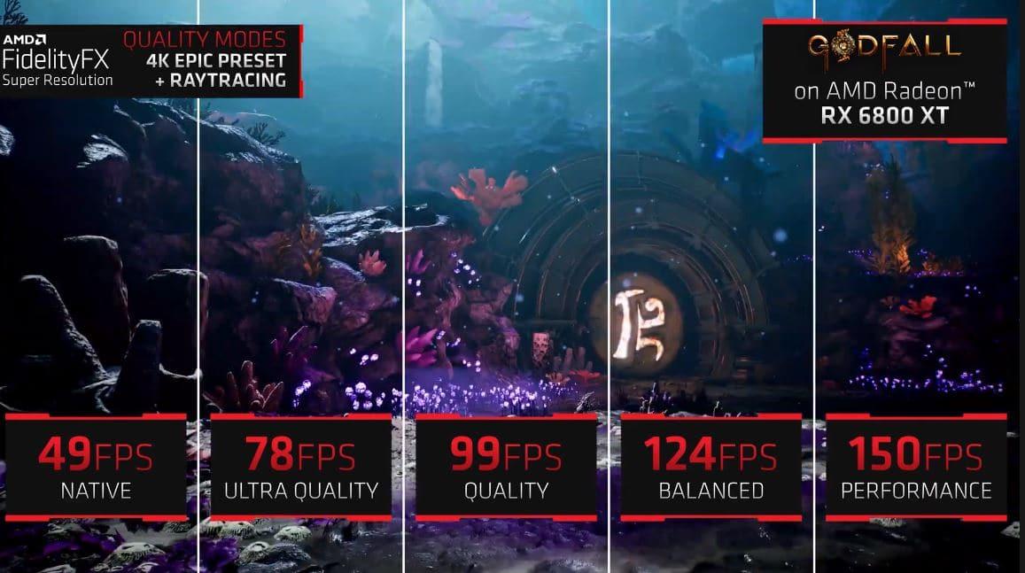 AMD FidelityFX Super Resolution sí es capaz de triplicar el rendimiento en juegos