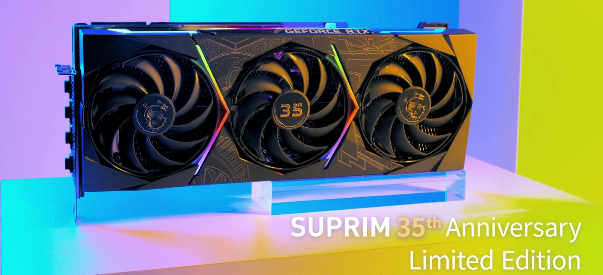 MSI celebra su 35º Aniversario con la MSI GeForce RTX 3090 SUPRIM Anniversay Limited Edition