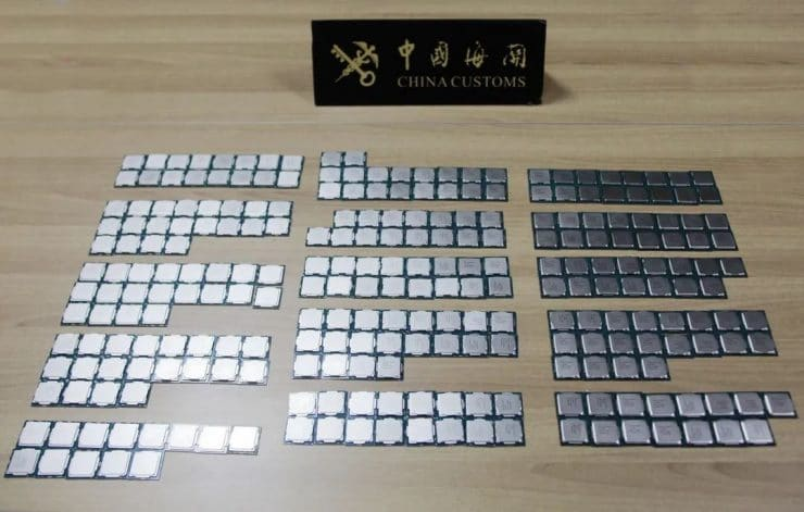 CPU Intel sequestrate dalla dogana cinese