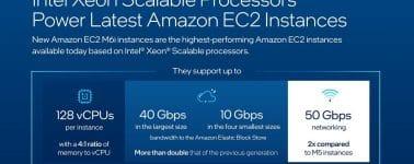 Intel consigue que sus Xeon de 3ª Gen den vida a las últimas instancias de Amazon EC2