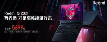 Redmi G 2021: 16.1″ @ 144 Hz con Core i5 o Ryzen 7 + GeForce RTX 3050/3060