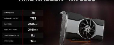 AMD Radeon RX 6600: Similar a una GeForce RTX 3060 pero por 600 euros