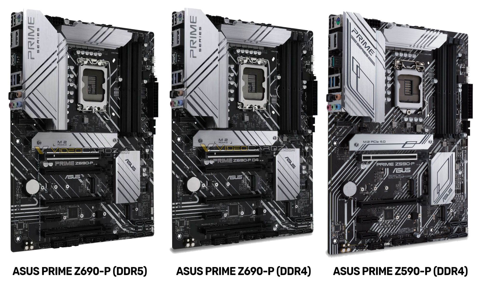Así lucen las Asus PRIME Z690-P para la memoria DDR5 y DDR4