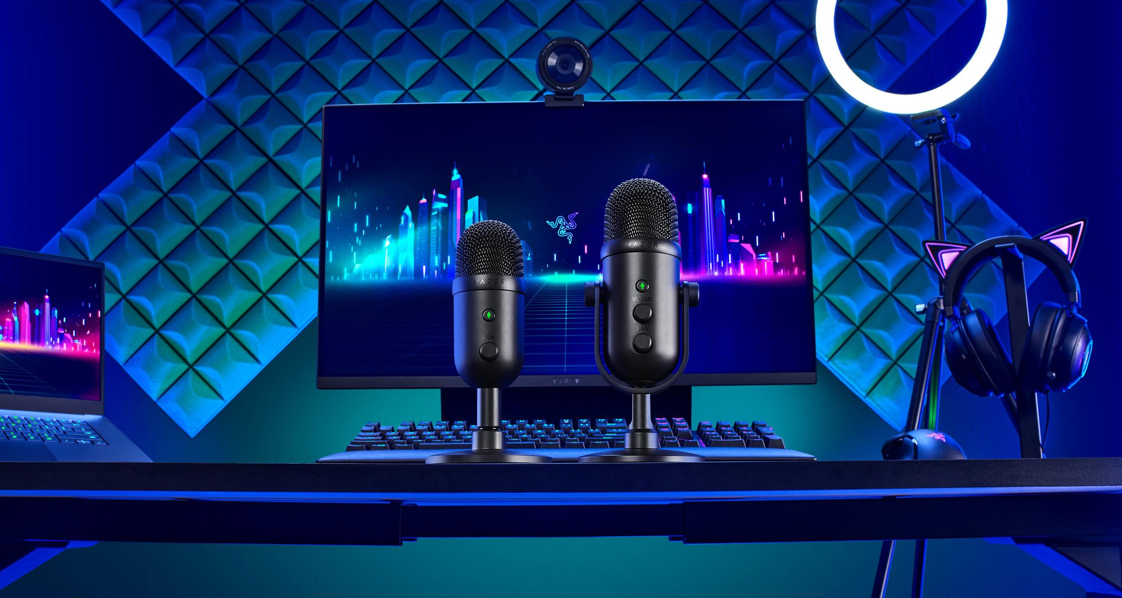 Razer anuncia sus nuevos micrófonos profesionales Seiren V2 Pro y Seiren V2 X
